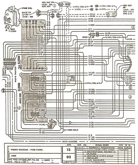 Wiring Diagram 66 Chevelle by 1966 Chevelle Factory Assembly Manual
