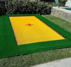 In Ground Trampolin : pro jumbo aussie in ground trampoline black poly or yellow 2 string mat topline trampolines ~ Orissabook.com Haus und Dekorationen