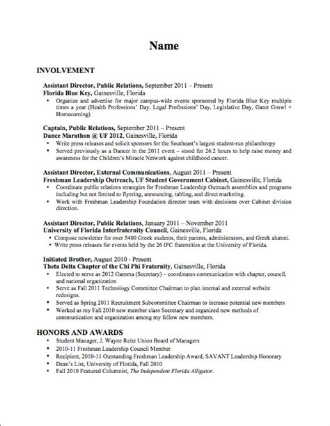 Political Science Major Resume Objective by Sponsored Research Administration Resume