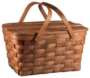 picnic basket set for 2 prairie picnic basket wood farmhouse picnic