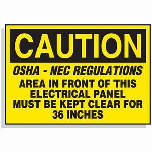lockout hazard warning labels osha nec regulations With electrical panel warning labels