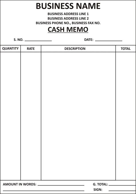 cash bill format submited images pic 2 fly al in 2019