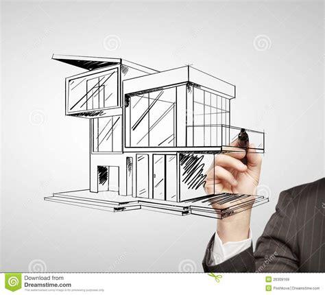 maison moderne de dessin images libres de droits image 26309169