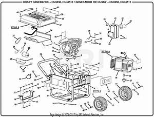Homelite Hu3650 3 650 Watt Generator Parts Diagram For