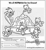 Attic Coloring Angels Scream Ice Cream Adding Snoopy Activities Comics Peanuts sketch template
