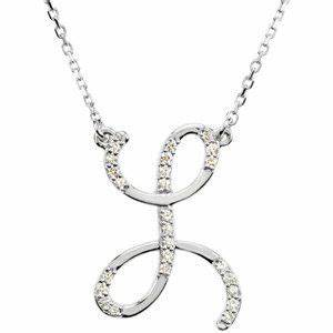 14k white gold alphabet initial letter l diamond pendant for Gold necklace with letter l