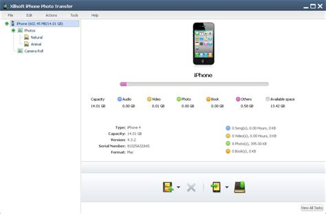 how to transfer one iphone to another xilisoft iphone photo transfer transfer photos from