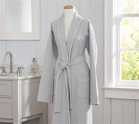 pottery barn robe hotel piped trim robe pottery barn