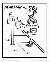 Office Coloring Pages Mailman Preschool Community Google sketch template