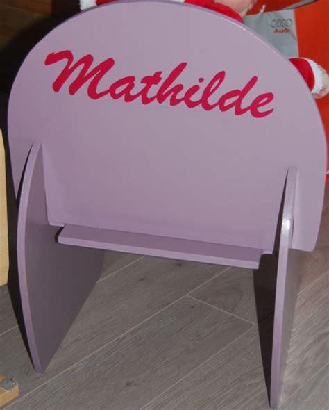 chaise personnalisée enfant
