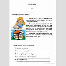Test House Worksheet  Free Esl Printable Worksheets Made By Teachers