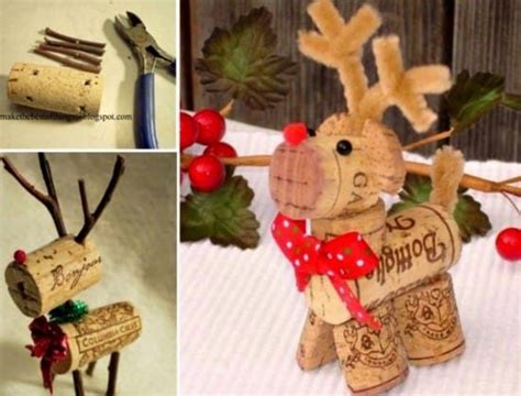 Wine Cork Reindeer Super Cute Ideas Ashley Furniture Coffee And End Tables Side Armen Living Table How To Make Reclaimed Wood Rattan Outdoor Round Large Copenhagen Lift Top Hardware