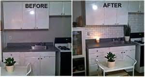 painting kitchen tile backsplash faux subway tile backsplash a brick stencil from redlionstencils com clever