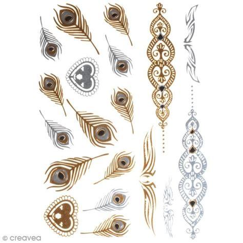 tatouage temporaire bijoux plumes  arabesques
