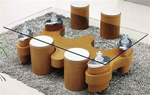glass coffee table with stools coffee table design ideas With glass coffee table with stools underneath