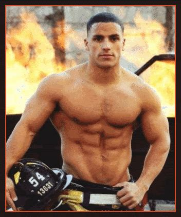 sexy fireman gif find share  giphy