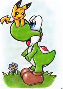 Yoshi and Pikachu