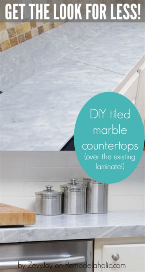 budget kitchen makeover diy faux marble countertops 37 brilliant diy kitchen makeover ideas