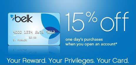 0% intro apr for the first 15 months from account opening on both store and online purchases. Belk Credit Card - storecreditcards.org