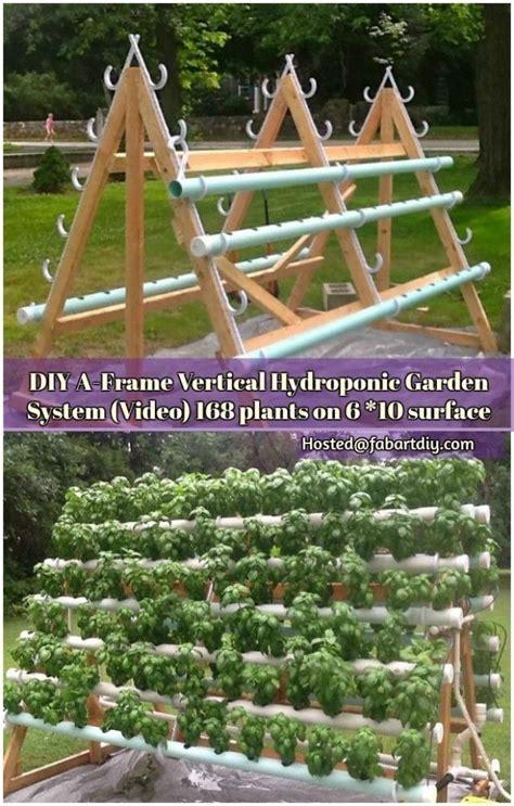 Diy Vertical Hydroponic Garden by Diy A Frame Vertical Hydroponic Garden System