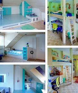Kinderzimmer Streichen Dachschräge : kinderzimmer mit dachschr ge ~ Markanthonyermac.com Haus und Dekorationen