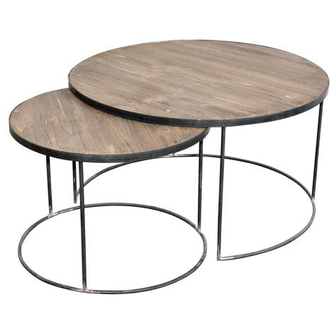 set of two table ls french set of two round coffee tables