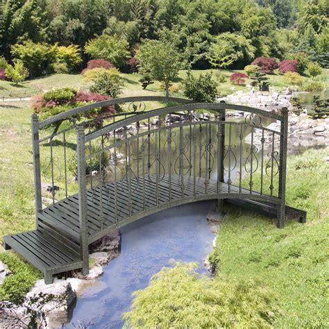 steel garden bridge sunjoy yvonne 7 5 steel garden bridge