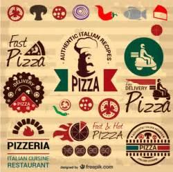 elementos gr 225 ficos retro de pizza italiana baixar