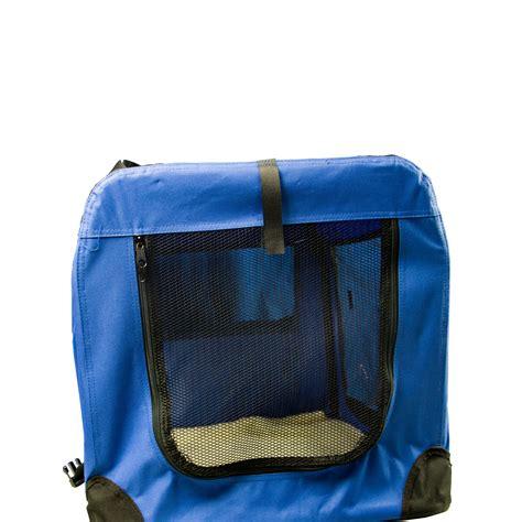 hundetragetasche gr 246 223 e hundebox blau transportbox katze hund faltbar solide - Transportbox Hund Faltbar