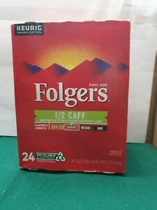 If you love to experiment and enjoy a change from the regular coffee you have been drinking, you might be intrigued to give these other flavors a try. Folgers Half 1/2 Caff Coffee 24 Keurig K cup | eBay