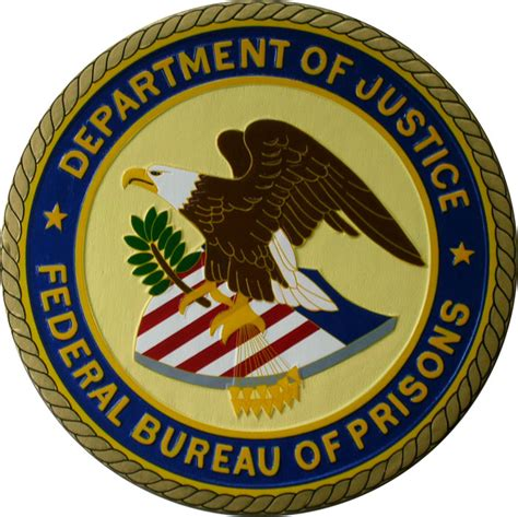 federal bureau of justice department of justice federal bureau of prisons logo