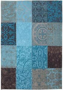 Teppich Für Badezimmer : vintage teppich t rkis beige braun patchwork kunst f r den boden orient teppich in ~ Orissabook.com Haus und Dekorationen
