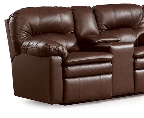 double recliner sofa with console lane home theater double reclining sofa with console