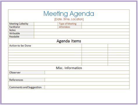 meeting minutes template word basic meeting agenda template formal informal meetings