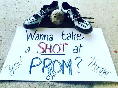 shot put promposal track  field throwers prom