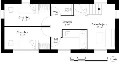 cuisine ouverte sur salon plan maison moderne en u ooreka