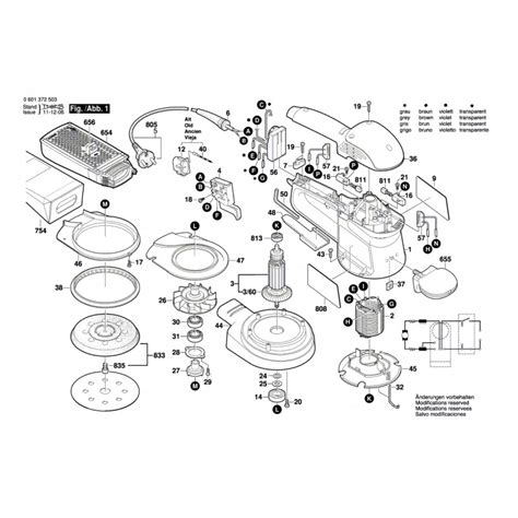 bosch parts for rotorbital sander gex 125 ac