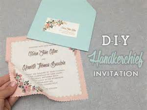 cheap wedding program diy vintage hanky wedding invitation with free template