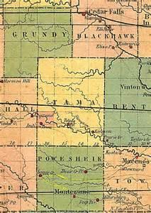 Tama County Iowa Map