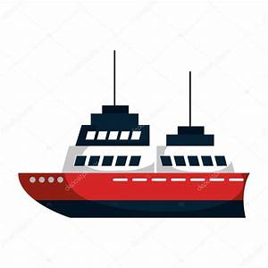 cruise ship silhouette isolated icon — Stock Vector ...