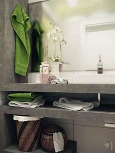 comment amenager une salle de bain 4m2 With salle de bain design avec petit meuble salle de bain castorama