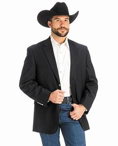Men's Navy Classic Western Sport Coat
