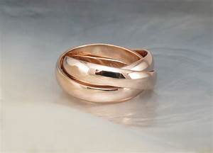 Chunky rolling rings russian wedding bands hand by for Chunky wedding rings