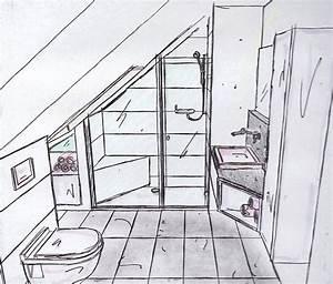 Grundriss Bad Dachschräge : badgestalten duschen unter der schr ge wohnideen pinterest duschen schr g und badezimmer ~ Markanthonyermac.com Haus und Dekorationen