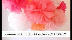 Comment Faire Des Roses En Papier : tuto d co comment faire des fleurs en papier youtube ~ Melissatoandfro.com Idées de Décoration