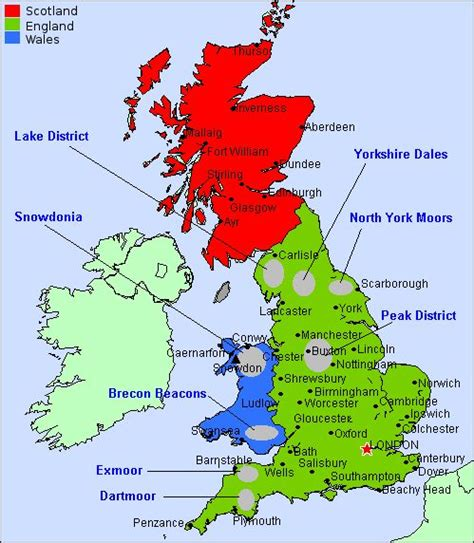 map  great britain showing towns  cities google