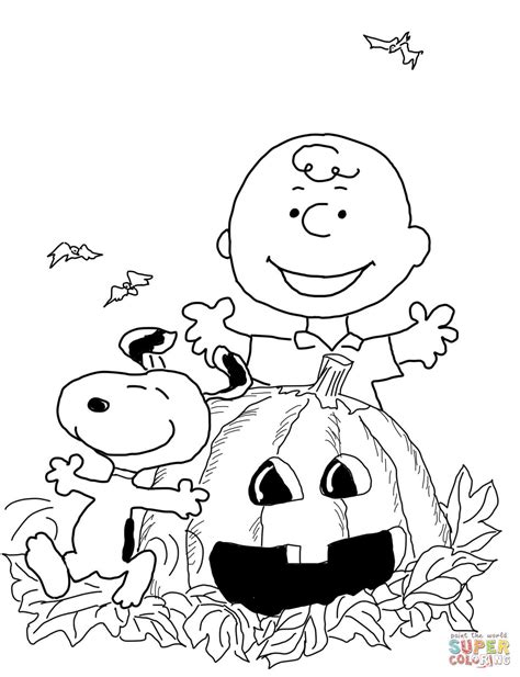 Free Printable Charlie Brown Halloween Coloring Pages