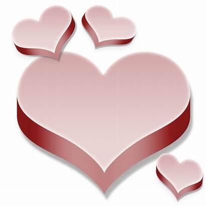Transparent Hearts Pink 3d Clipart Heart Gold
