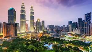 Kuala Lumpur City Centre At The Evening, Malaysia ...