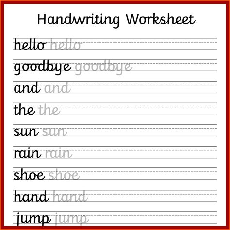 handwriting printable worksheets 5 handwriting worksheets instituto facil